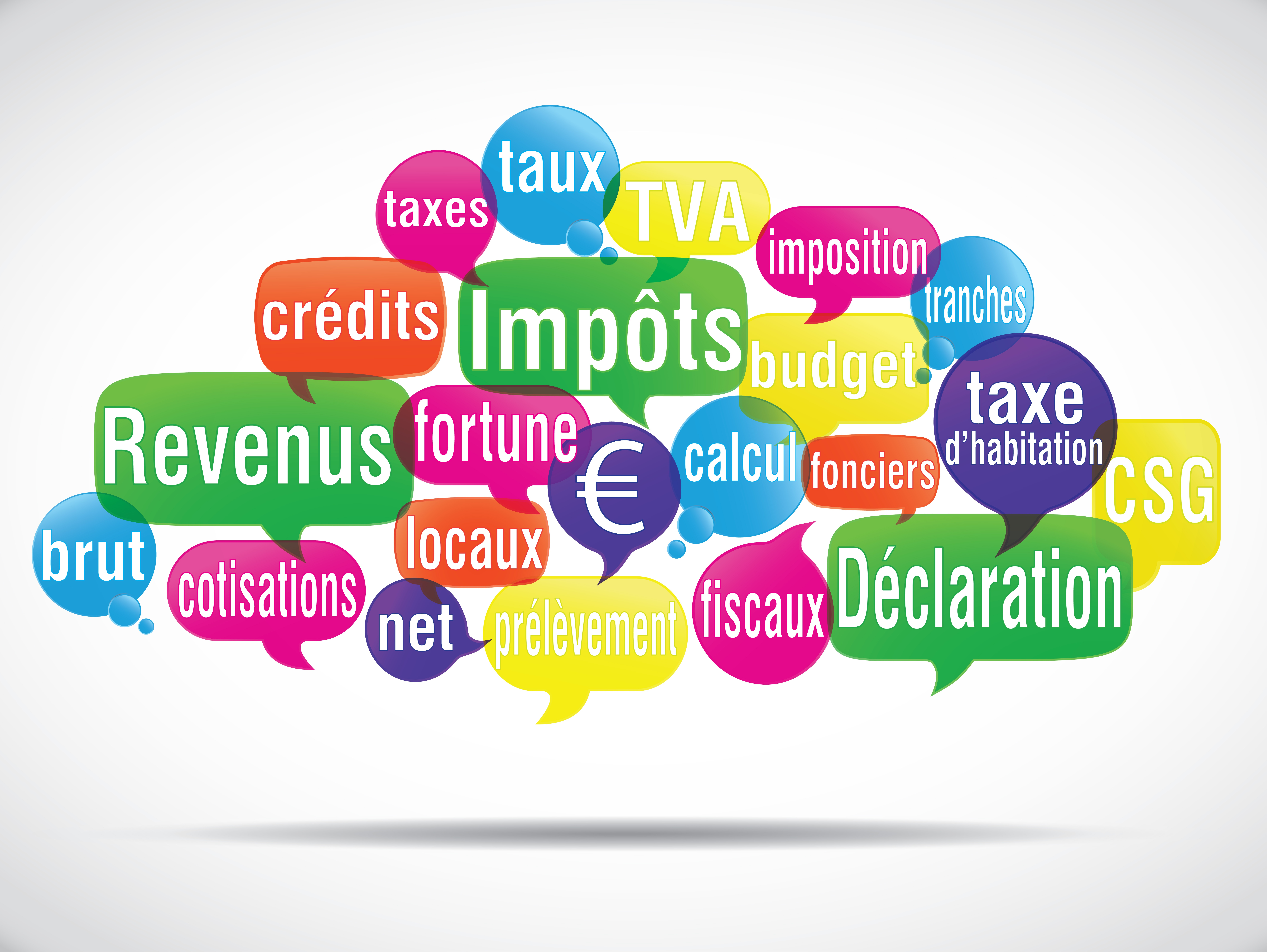 collage des différents leviersde réformes sociao-fiscales